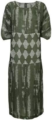 Zero Maria Cornejo geometric woven dress