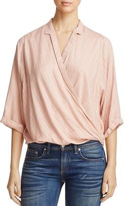 Elan Wrap-Front Shirt $58 thestylecure.com
