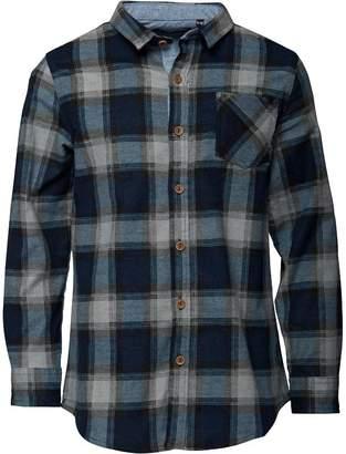 Brave Soul Junior Boys Garfield Long Sleeve Shirt Mid Blue/Black/Grey