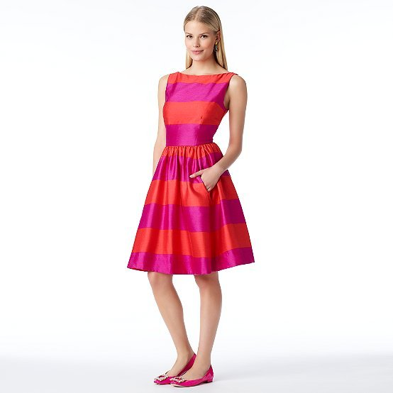Kate Spade Striped carolyn dress
