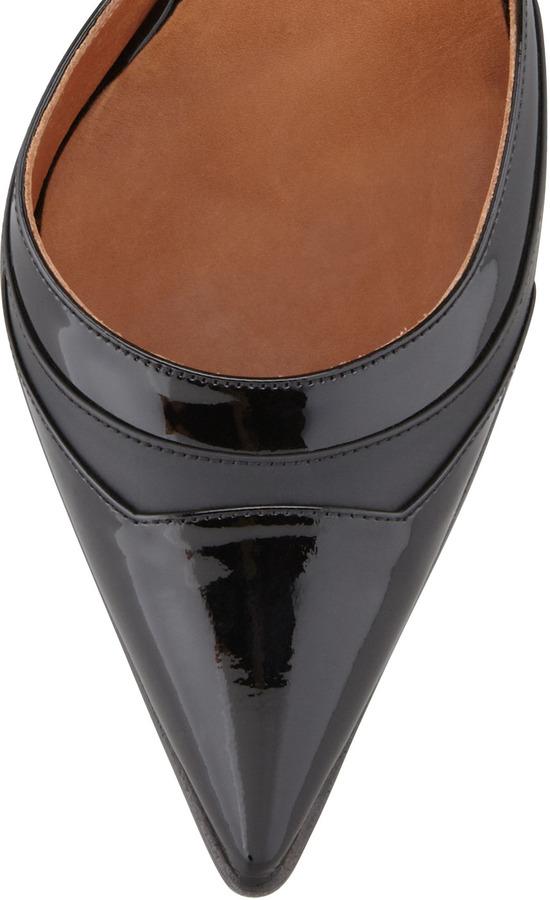 Reed Krakoff Pointed-Toe Ankle Harness Pump, Black