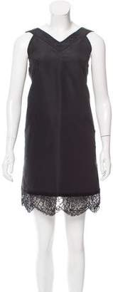 Oscar de la Renta Lace-Trimmed Silk Dress