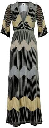 M Missoni Stripe-intarsia Fine-knit Maxi Dress