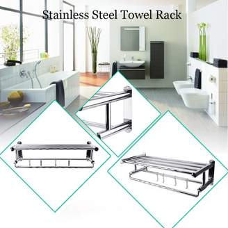 Feel Wall Mounted Practical Stainless Steel Towel Rack Towel Bar Holder Storage Shelf 316 Bathroom Kitchen Accessory