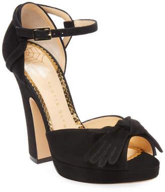 Charlotte Olympia Suede D'orsay Platform Sandal