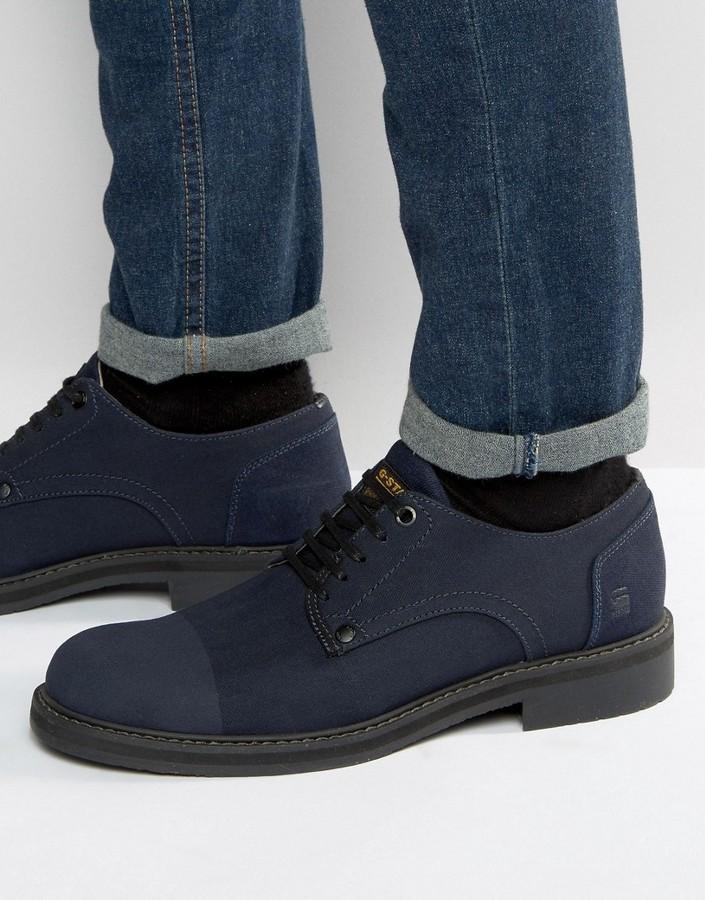 G StarG-Star Denim Lace Up Derby Shoes