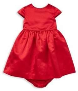 Ralph Lauren Baby Girl's Silk Cap-Sleeve Dress