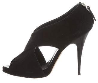 Barneys New York Barney's New York Cutout Peep-Toe Booties