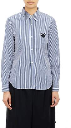 Comme des Garcons Women's Striped Shirt - Navy, White
