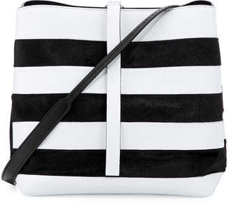 Proenza Schouler Frame Striped Leather & Calf Hair Shoulder Bag