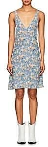 R 13 Women's Floral Silk-Blend Slipdress - Lt. Blue