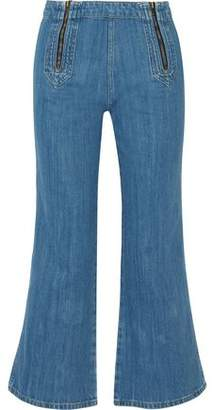 MiH Jeans Arrow Zip-Detailed High-Rise Kick-Flare Jeans