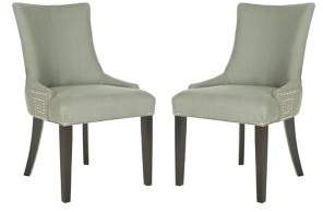 Safavieh Gretchen Set of Two Nail Heads Side Chairs