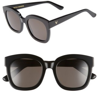 Women's Gentle Monster Matti 51Mm Rounded Sunglasses - Black $230 thestylecure.com