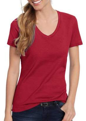 Hanes Women's Lightweight Short Sleeve V-neck T Shirt