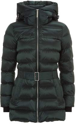 Burberry Belted Mid-Length Puffer Jacket