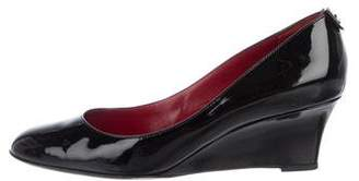 Gucci Patent Leather Round-Toe Wedges