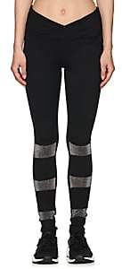 Electric Yoga WOMEN'S GLITTERED-INSET LEGGINGS-BLACK SIZE S
