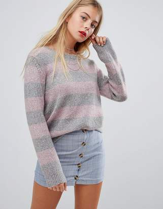 Emory Park relaxed sweater in pastel stripe