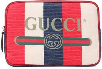 bc30df442f7f Gucci Striped linen pouch