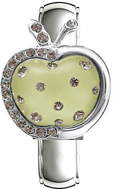 JCPenney Cream Apple Crystal Bangle Watch