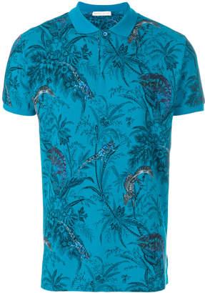 Etro tropical print polo shirt