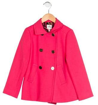 Milly Minis Girls' Double-Breasted Notch-Lapel Coat w/ Tags