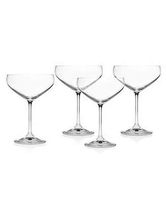 Godinger Meridian Champagne Coupe Cocktail Glasses, Set of 4