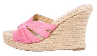 Christian Louboutin Espadrille Slide Sandals