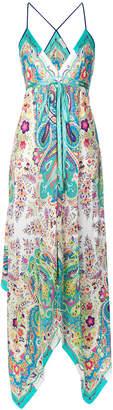 Etro mixed print maxi dress