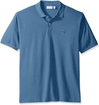 Lacoste Men's Short Sleeve Classic Pique L.12.12 Original Fit Polo Shirt,Silver/Grey Chine