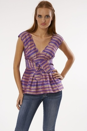 Tracy Reese Joan Top in Dahlia Mix