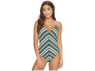 Robin Piccone Livvy V-Neck One-Piece Women's Swimsuits One Piece
