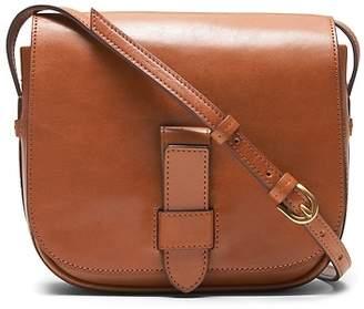 Banana Republic Italian Leather Saddle Bag