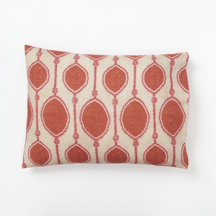 west elm Organic Bead Print Ikat Duvet Cover + Shams