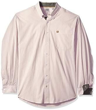 Cinch Men's Classic Fit Long Sleeve Button One Open Pocket Stripe Shirt