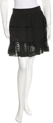 Alice by Temperley Lace-Trimmed Flare Skirt w/ Tags $75 thestylecure.com