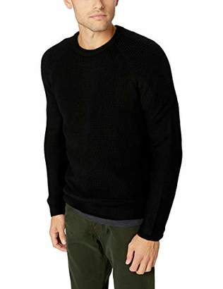 Velvet by Graham & Spencer Men's Elvin Raglan Knit Sweater in Wool Blend