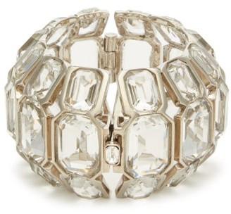 Alexander McQueen Crystal Embellished Cuff - Womens - Crystal