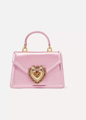 Dolce & Gabbana Devotion Mini Embellished Satin Shoulder Bag - Pink