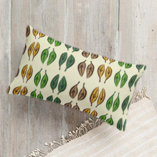 Graphic Leaves Self-Launch Lumbar Pillows