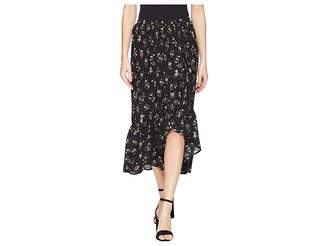 Bobeau B Collection by Emer Wrap Ruffle Skirt