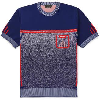 Prada Slim-Fit Mélange knitted Sweater