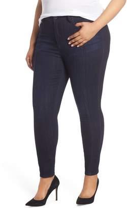 Seven7 High Rise Lace Hem Skinny Jeans
