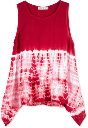 Kandy Kiss Tie-Dyed Cotton Tank Top, Big Girls (7-16) $34 thestylecure.com