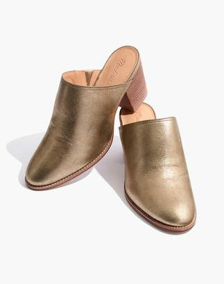 Madewell The Harper Mule in Metallic