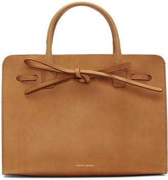 Mansur Gavriel Tan Leather Mini Sun Tote $695 thestylecure.com