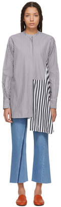 Ports 1961 White and Grey Striped Shirt
