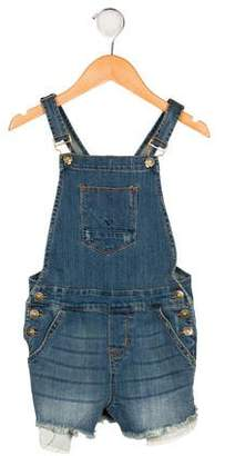 Hudson Girls' Distressed Denim Overalls w/ Tags