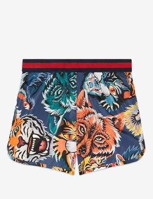 Gucci Print Nylon Shorts